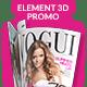 Magazine Promo for Element 3D