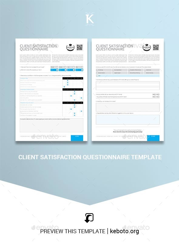 A questionnaire is defined a market research instrument that consists of questions or prompts to elicit and collect responses from a sample of respondents. Questionnaire Stationery And Design Templates From Graphicriver