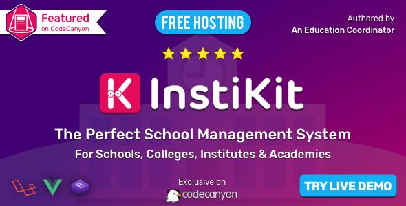 , InstiKit School – School ERP for School, College, Institute and Academy, Laravel & VueJs, Laravel & VueJs