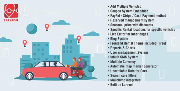 , LaraRent – Multipurpose Vehicle Rental System Laravel Script, Laravel & VueJs, Laravel & VueJs