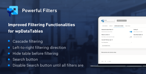 Grand Filters for wpDataTables - Cascade Filter for WordPress Tables - PHP Script Download 1