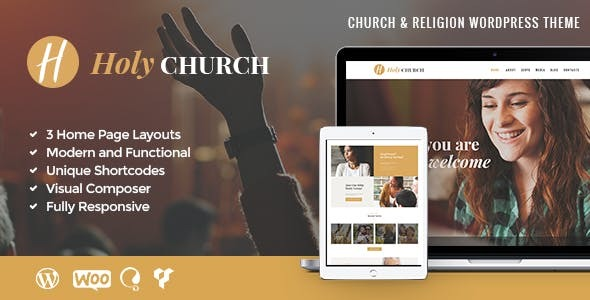 HolyChurch | Religion, Charity & Nonprofit WordPress Theme