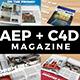 AE + C4D Real Animated Magazine