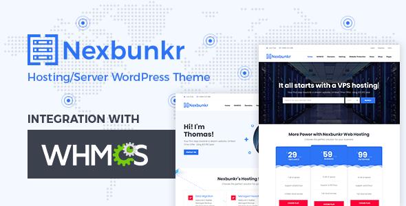 Nexbunker - Hosting/Server WordPress Theme + WHMCS