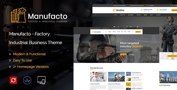 Manufacto Factory & Industrial WordPress Theme