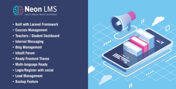 , NeonLMS – Learning Management System PHP Laravel Script, Laravel & VueJs