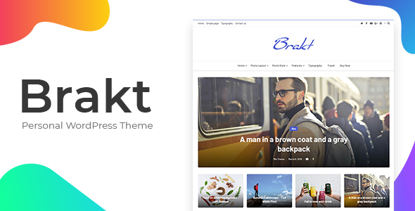 Brakt - Personal WordPress Theme