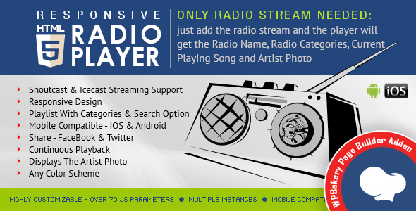 Visual Composer Addon - HTML5 Radio Participant for WPBakery Page Builder - PHP Script Download 1