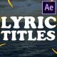 2d Lyric Titles | After Effects Template