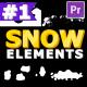 Cartoon Snow Elements   Premiere Pro MOGRT