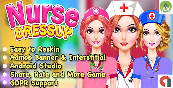 Stunning Nurse Costume Up Game For Early life + Admob + GDPR + Android Studio + Ready For Put up  - PHP Script Download 1