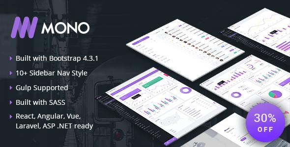 , MONO – Admin Template + UI Kit, Laravel & VueJs