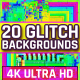 20 Colorful Glitch Backgrounds 4K
