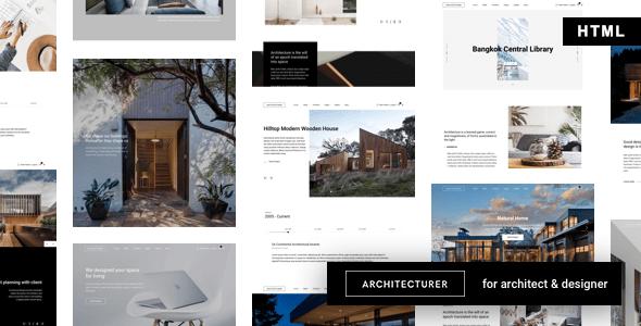 , Architecturer – Interior Design HTML Template, Laravel & VueJs, Laravel & VueJs