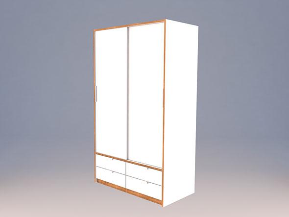 Ikea TRYSIL wardrobe Low-poly 3D model
