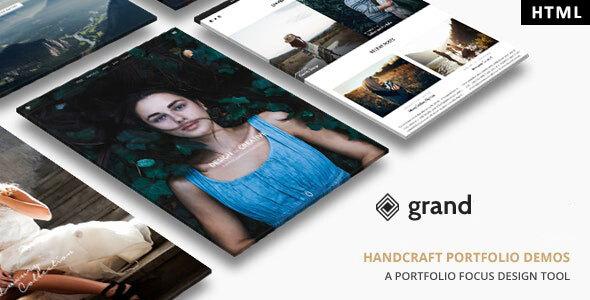 , Grand Portfolio – HTML Template, Laravel & VueJs