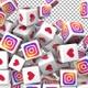 Social Media Icons Transition - Instagram, Like