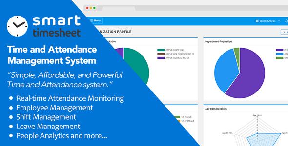, Smart Timesheet — Time and Attendance Management System, Laravel & VueJs