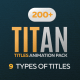 Titan Titles Animation Pack for Premiere Pro