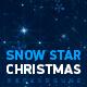 Snow Star Christmas Background