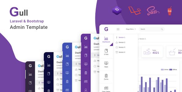 , Gull – Laravel + Bootstrap Admin Dashboard Template, Laravel & VueJs