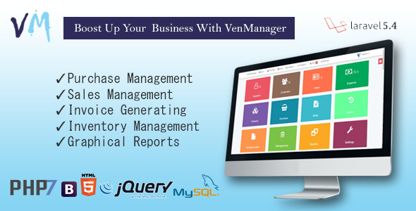 , VenManager – Inventory, Account & Sales Management, Laravel & VueJs, Laravel & VueJs