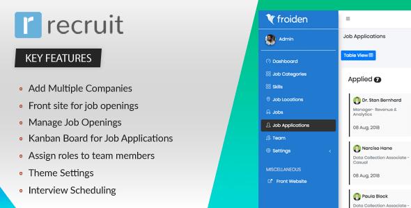 , Recruit – Recruitment Manager, Laravel & VueJs
