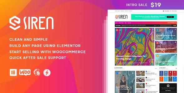 Siren - News Magazine Elementor WordPress Theme