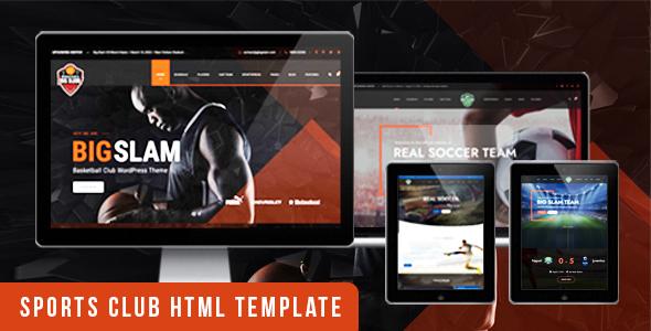 , BigSlam Sport Clubs- HTML Template, Laravel & VueJs, Laravel & VueJs