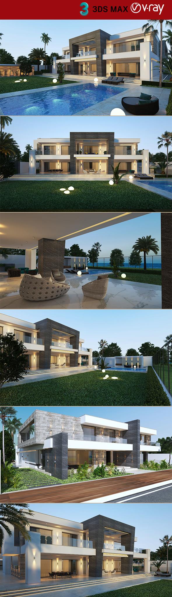 Private Villa Exterior Scene