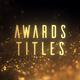Golden Glitter Particles Titles