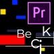 Unique modern color glitch title