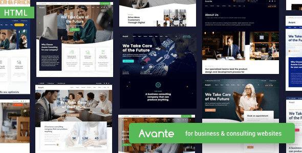, Avante – Business HTML Template, Laravel & VueJs