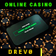 Casino Online Games App/ Poker Champions/ Online Roulette Intro/ Slot Machine/ Money Win/ Smartphone