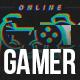 Gamer Glitch Logo Reveal