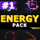 Cartoon Energy Charges | Premiere Pro MOGRT