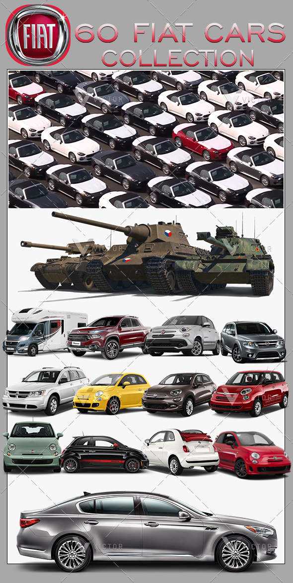"""60"""" Fiat Cars Collection Pack"""