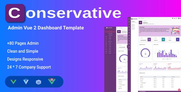 , Conservative – Vuejs Admin & Dashboard Templates, Laravel & VueJs, Laravel & VueJs