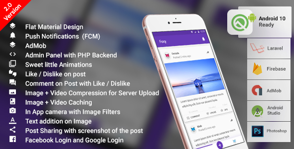 , Anonymous Social Network Android App with PHP (Laravel) Backend | Complete App | Foxy, Laravel & VueJs