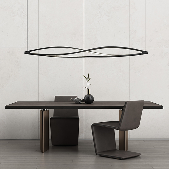 Minotti Morgan dinning table and Phillips chair