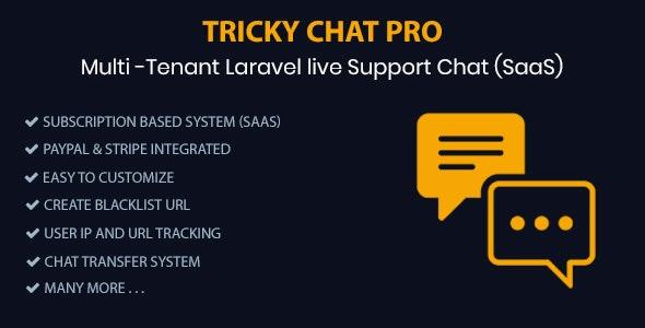, Tricky Chat Pro – Multi Tenant Live Support Chat (SaaS), Laravel & VueJs, Laravel & VueJs