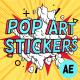 Pop-Art Sale Stickers