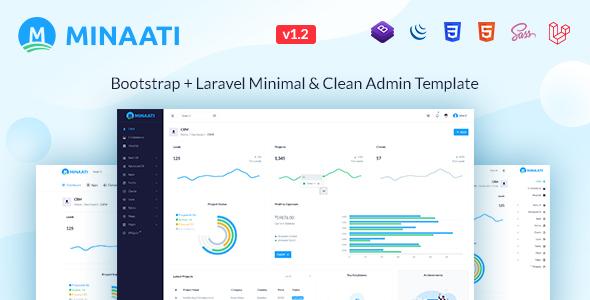 , Minaati – Bootstrap + Laravel Minimal & Clean Admin Template, Laravel & VueJs, Laravel & VueJs