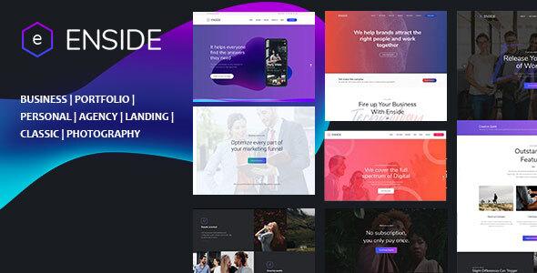 , Enside – Multipurpose Onepage Template, Laravel & VueJs