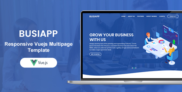 , Busiapp | Responsive Vuejs Multi Purpose Multi Pages Template, Laravel & VueJs
