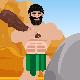Funny Caveman Character Logo Reveal