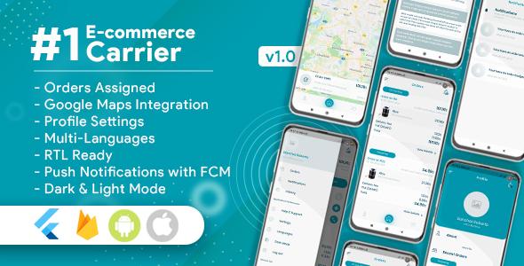 , Carrier For E-Commerce Flutter App, Laravel & VueJs