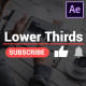 Youtube Lower Thirds | After Effects