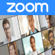 Zoom Event: Online Meeting Invitation for Group Video Chat or Conference