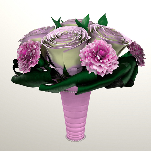 Bouquet of brides 3d model